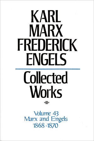 Front cover of Collected Works of Marx and Engels, Volume 43