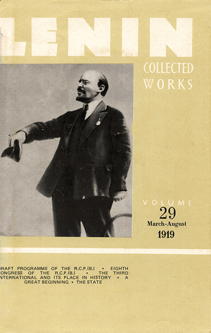 Front cover of Collected Works of Lenin, Volume 29