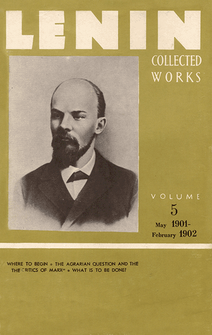 Front cover of Collected Works of Lenin, Volume 5