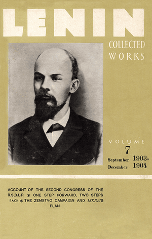 Front cover of Collected Works of Lenin, Volume 7