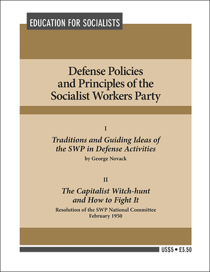 Front cover of Defense Policies and Principles of the Socialist Workers Party