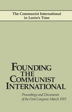 Front cover of Founding the Communist International