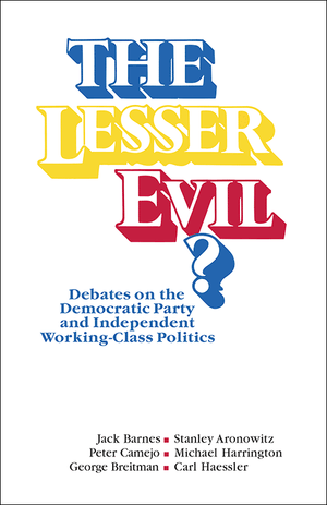 Front cover of The Lesser Evil?