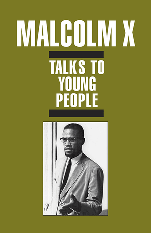 Front cover of Malcolm X Talks to Young People (pamphlet)