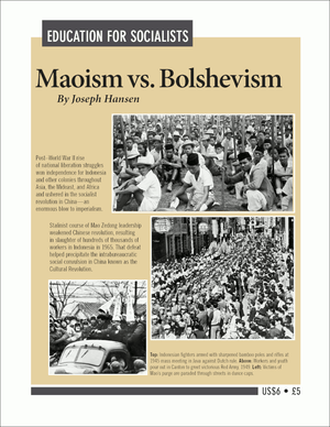 Front cover of Maoism vs. Bolshevism