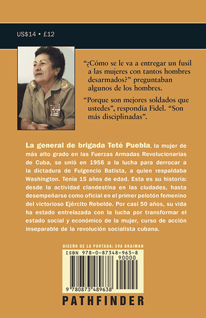 Back cover of Marianas en combate