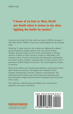 Back cover of Mother Jones Speaks