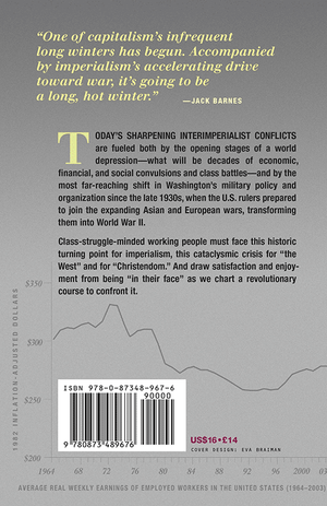 Back cover of Capitalism's Long Hot Winter Has Begun
