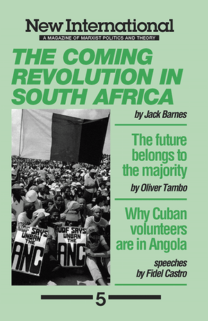 Front cover of The Coming Revolution in South Africa