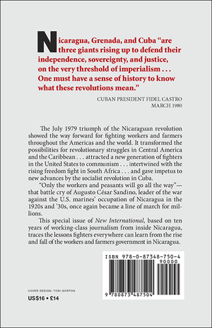 Back cover of The Rise and Fall of the Nicaraguan Revolution