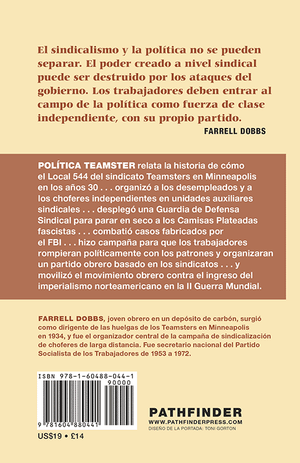 Back cover of Política Teamster