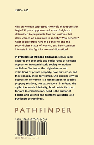 Back cover of Problems of Women's Liberation