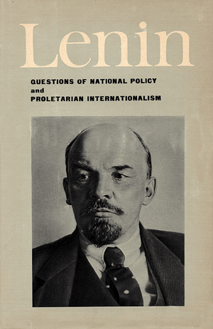 Front cover of Questions of National Policy and Proletarian Internationalism