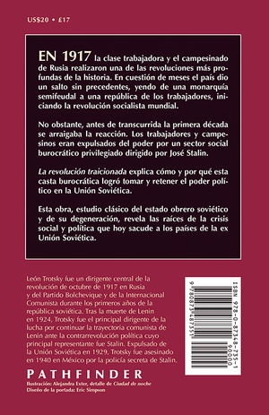 Back cover of La revolución traicionada