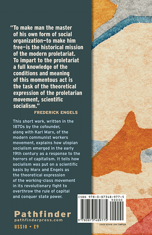Back cover of Socialism: Utopian and Scientific