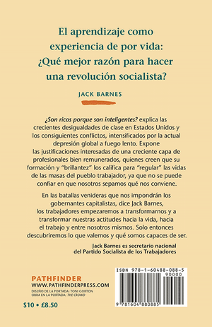 Back Cover of ¿Son ricos porque son inteligentes?