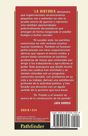Back cover of Su Trotsky y el nuestro