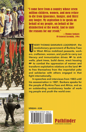 Back cover of Thomas Sankara Speaks
