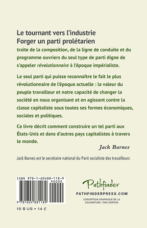 Back cover of Le tournant vers l'industrie
