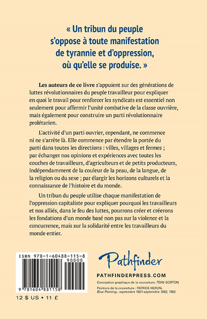 Back cover of Tribuns du peuple et syndicats