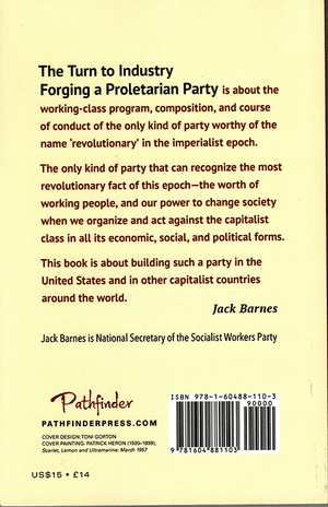 Back cover of The Turn to Industry
