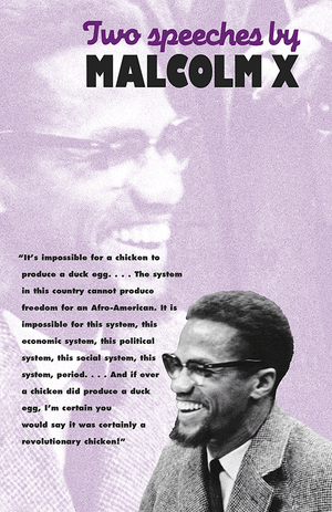 Front cover of Two Speeches by Malcolm X