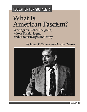 Front cover of What Is American Fascism?