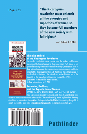 Back cover of Women and the Nicaraguan Revolution