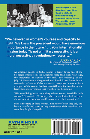Back cover of Women in Cuba: The Making of a Revolution Within the Revolution