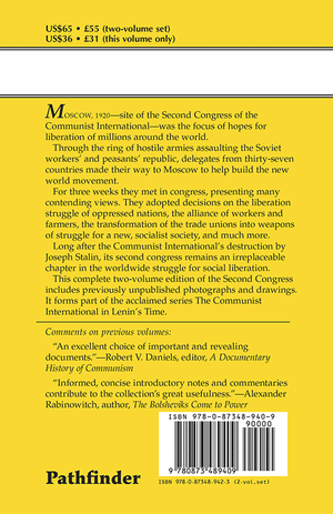 Back cover of Workers of the World and Oppressed Peoples, Unite! Vol. 1