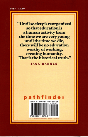 Back cover of The Working Class and the Transformation of Learning