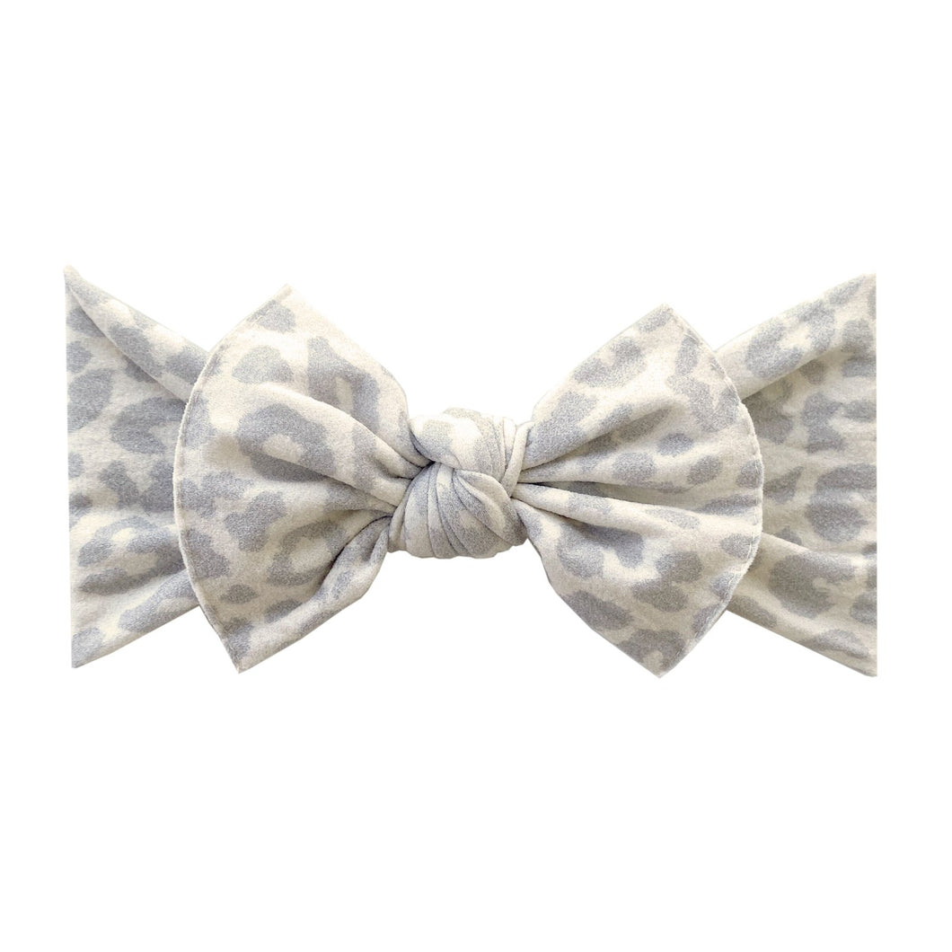 Snow Leopard Baby Bling Knot