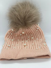 Load image into Gallery viewer, Real Fur Pearl Knitted Hat