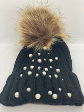 Load image into Gallery viewer, Baby Faux Fur Pearl Knitted Hat
