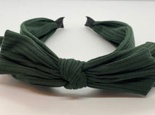 Load image into Gallery viewer, Ribbed Cotton Big Bow Headband