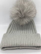 Load image into Gallery viewer, Real Fur Sparkle Knitted Hat