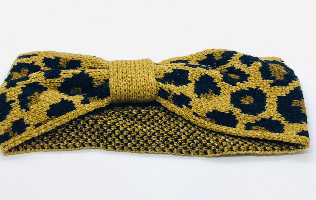 Natural Leopard Knot Winter Bandeau