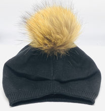 Load image into Gallery viewer, Fur Pom Slouch Hat