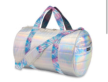 Load image into Gallery viewer, Metallic Puffer Duffle Bag