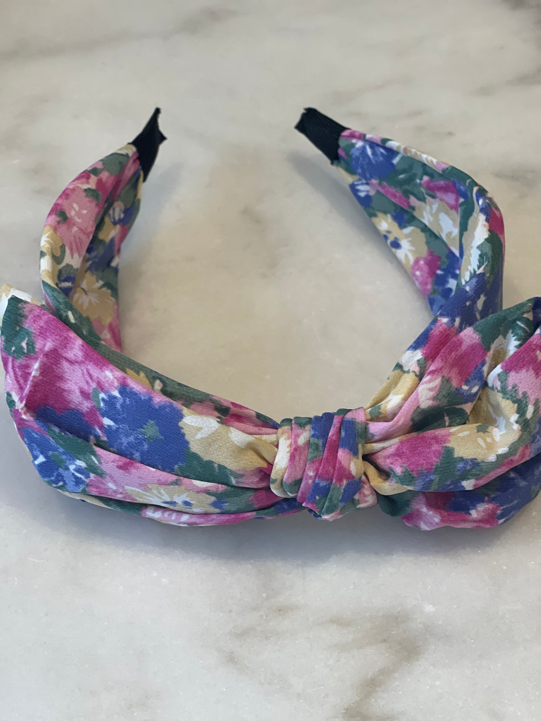 Watercolor Floral Bow Headband
