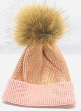 Load image into Gallery viewer, Fur Pom Metallic Hat