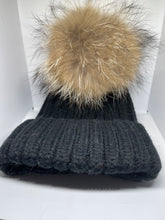 Load image into Gallery viewer, Adult Fur Pom Hat