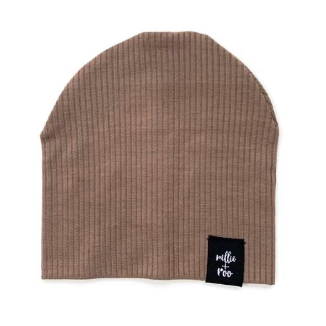 Latte Ribbed Beanie