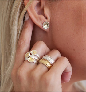 Classic Dish Stud Earrings - Gold