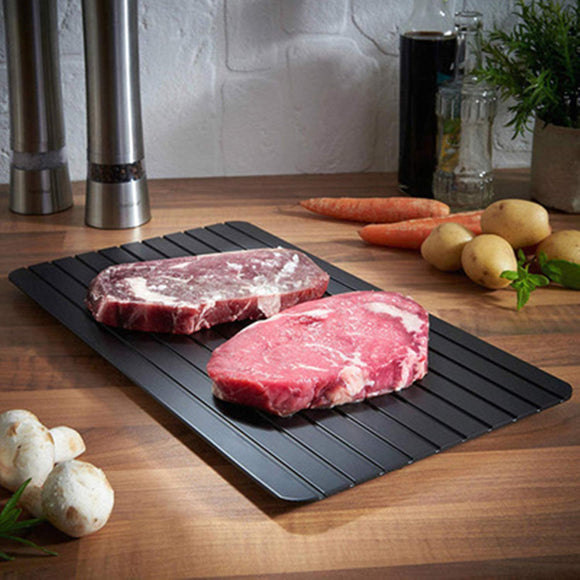 Quick defrosting tray, rapid thaw plate,  best kitchen gadget gift, cooking accessories, chef utensil. Meat quick thaw board, as seen on TV, unique and trendy kitchen tool