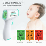 Non-contact infrared thermometer forehead gun, no touch, contactless, digital, PPE, helps stop the spread of Covid-19, quick screening for work or home, kids and babies, baby thermometer, Fahrenheit or Celsius, as seen on TV