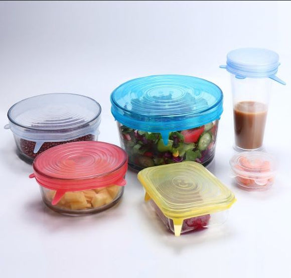Reusable Silicone Stretch Lids (Set of 6)