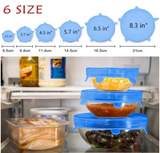 Reusable silicone stretch lids, best seal, best new kitchen gadget gift, cooking accessories, chef utensil, as seen on TV, new, unique, and trendy kitchen tool, save money stop wasting foil and plastic wrap.