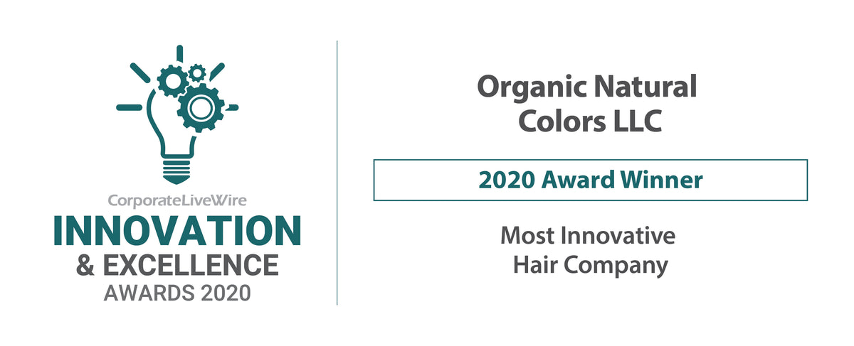 CorporateLiveWire Innovation & Excellence Awards 2020 Organic Natural Colors LLC  Winner of Most Innovative Hair Company