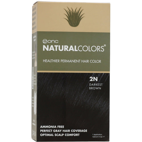 ONC NATURALCOLORS 2N Darkest Brown Hair Dye With Organic Ingredients 120 mL / 4 fl. oz.